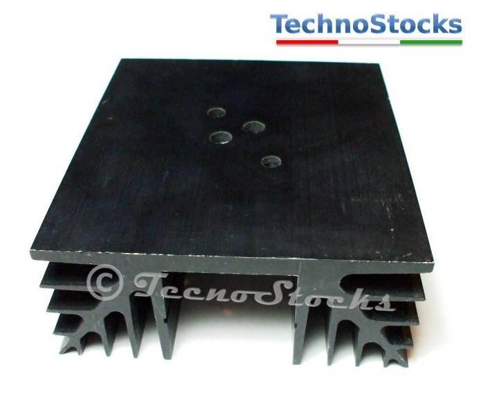 1x Dissipatore termico in alluminio anodizzato nero Mod 6