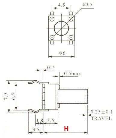Push Button Switch PCB 20x Pulsanti PCB 6x6x13 mm circuito stampato