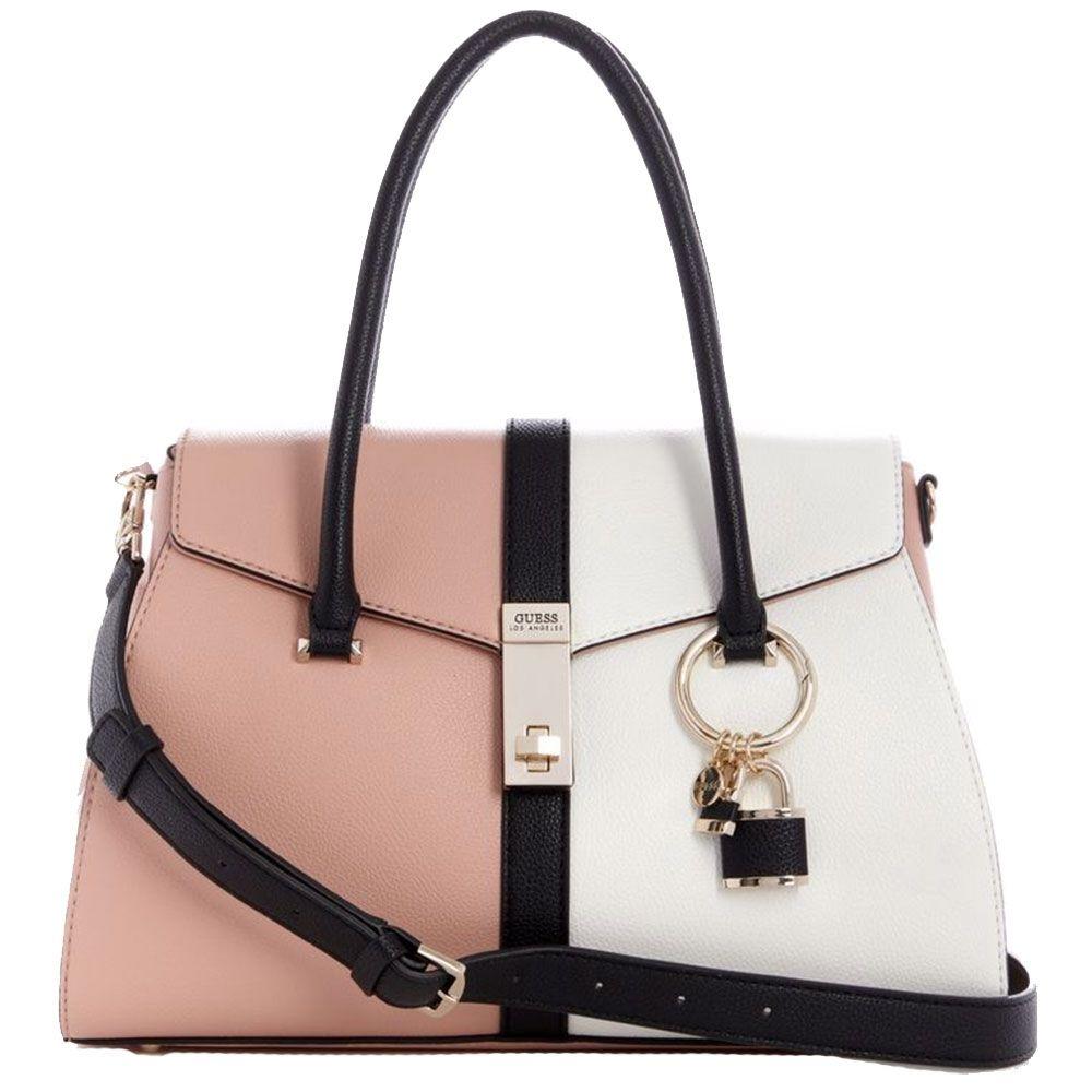 Dettagli su GUESS ASHER VG747707 borsa multi rosa a mano e tracolla