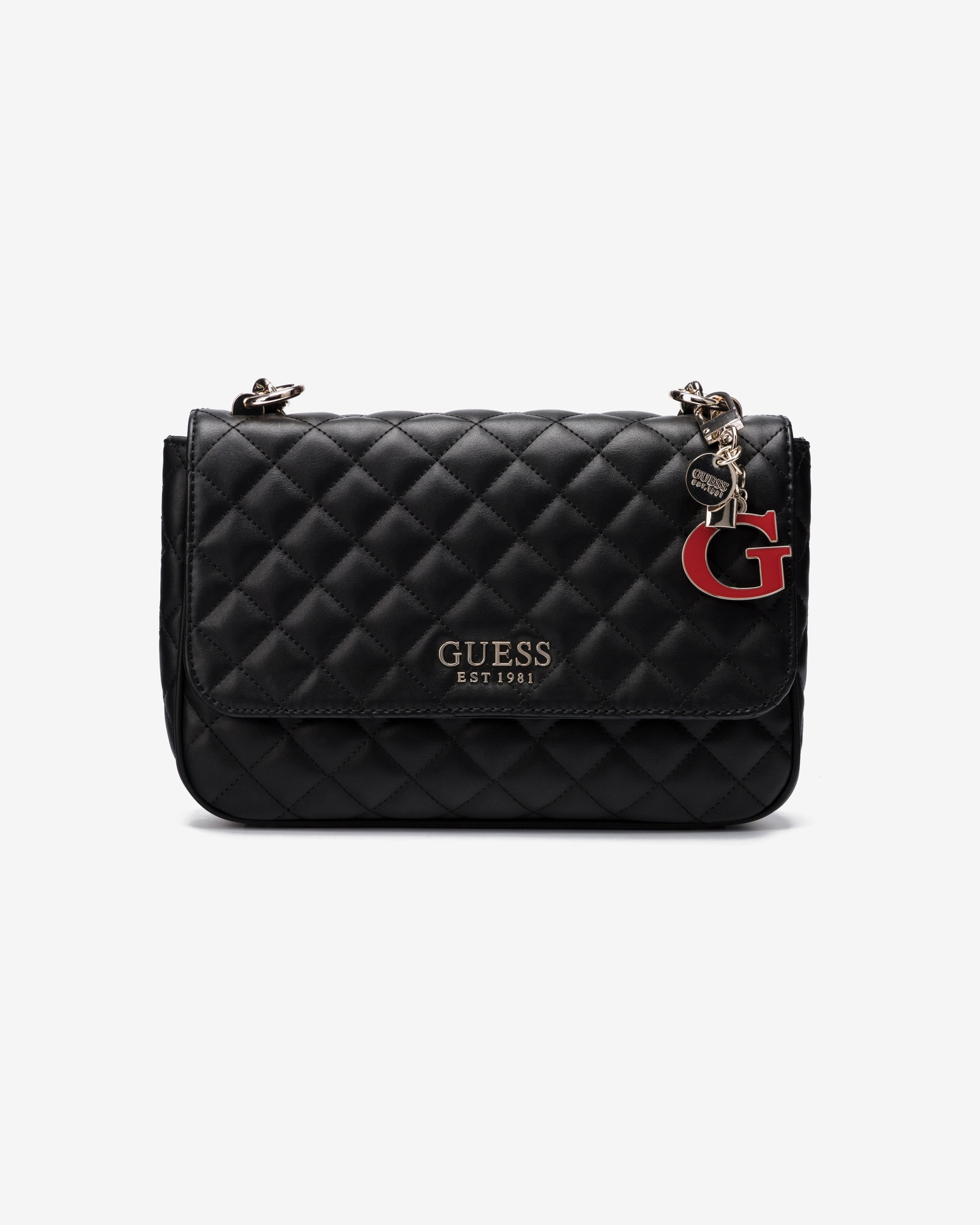 Dettagli su GUESS MELISE VG766720 borsa tracolla donna crossbody bag nero