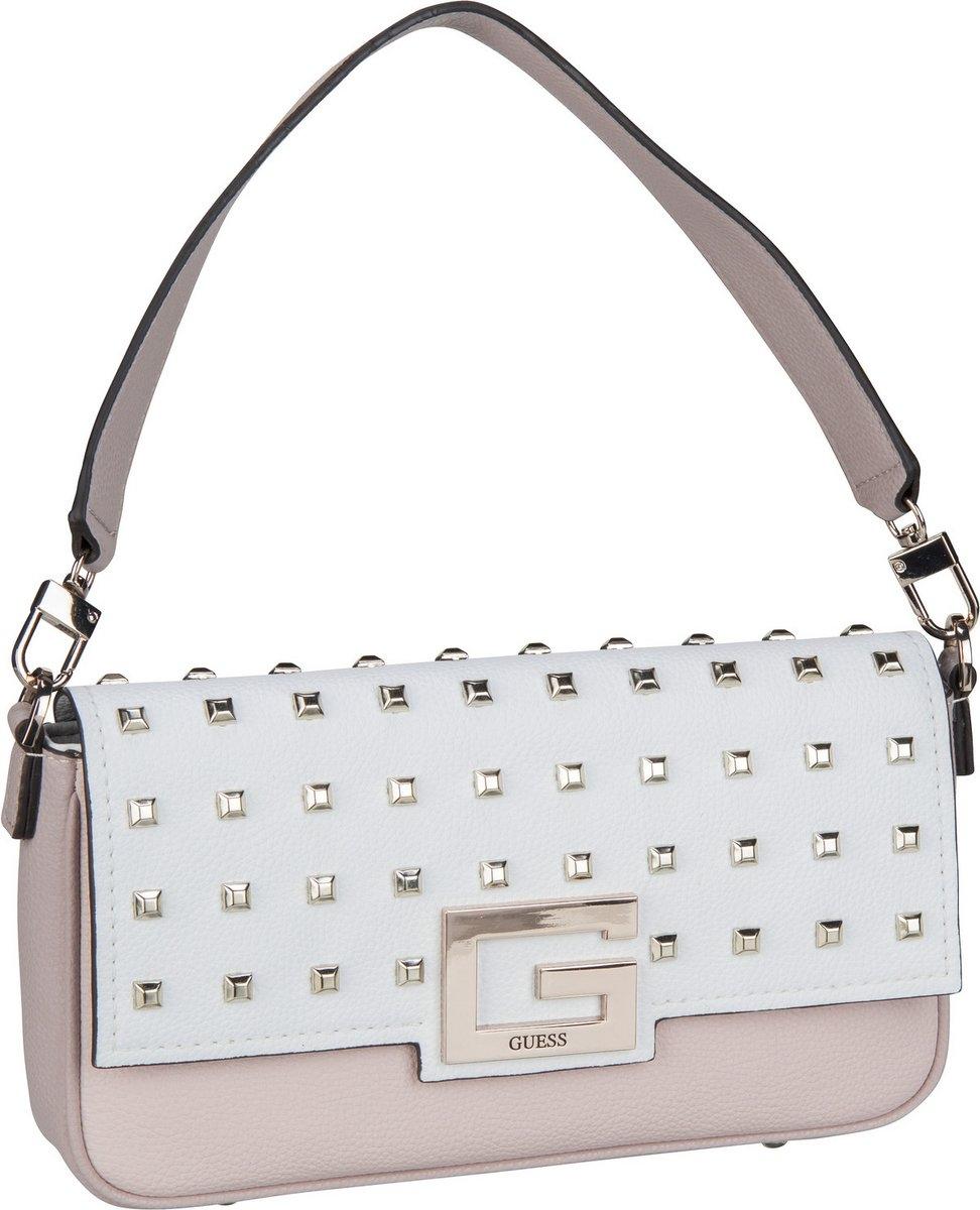 Dettagli su GUESS BRIGHTSIDE VS758019 Borsa tracolla a mano bianco borchie donna