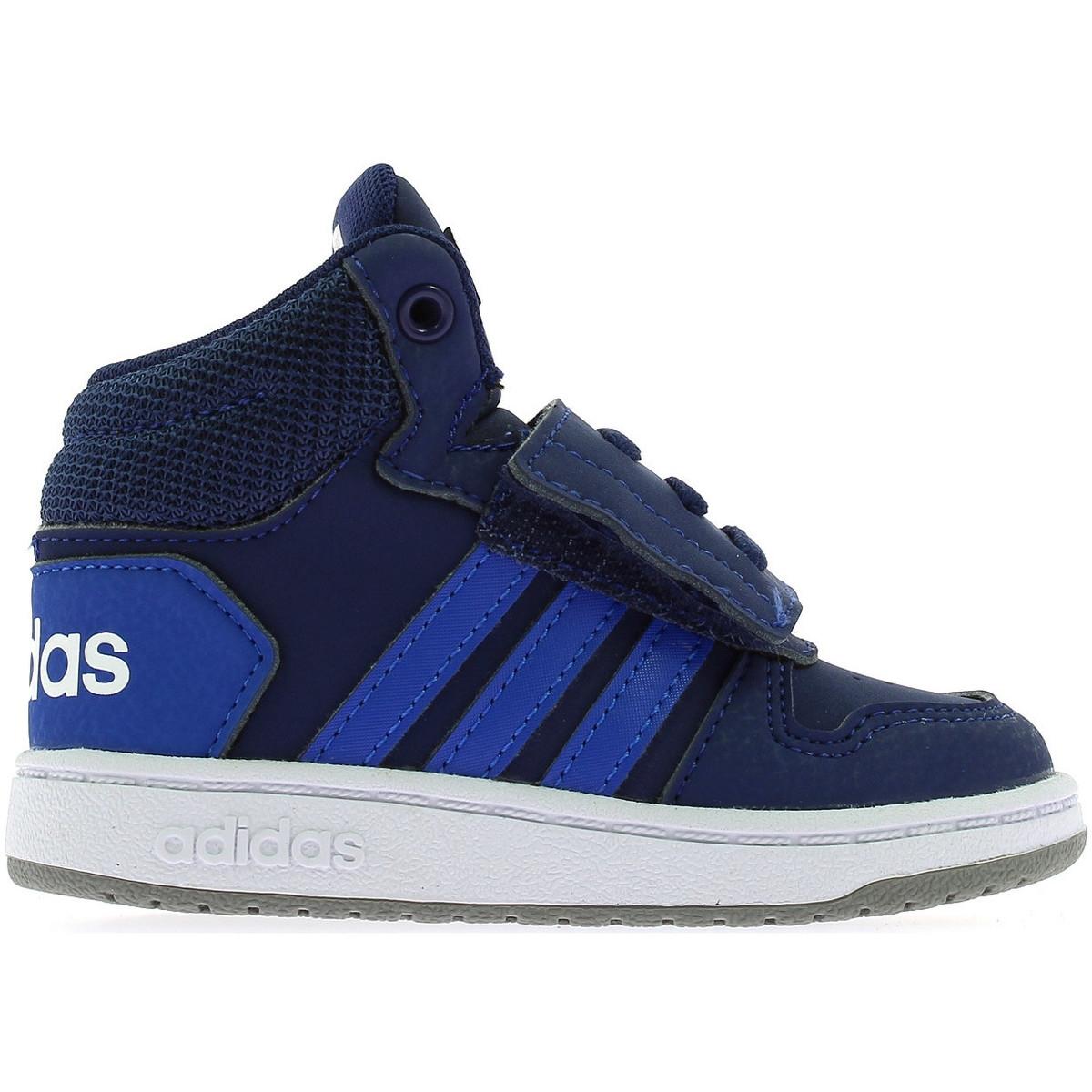 ADIDAS EE6714 HOOPS MID 2.0 sneakers scarpe alte bambino primi passi strappo | eBay