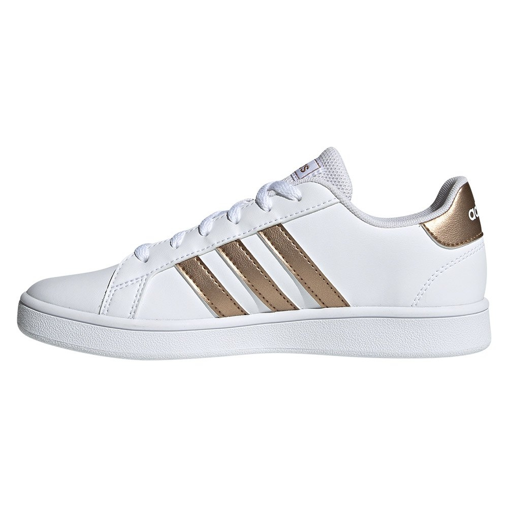Dettagli su ADIDAS EF0101 GRAND COURT K sneakers bianco bambina