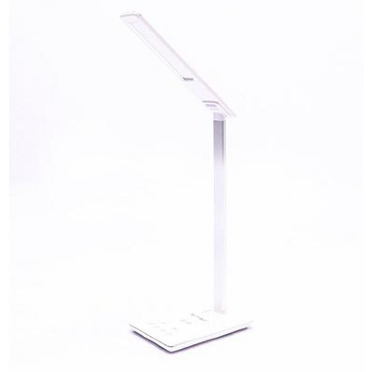 LED Touch Dimmer Tisch Leuchte Wireless Charger Tageslicht Alu Lampe verstellbar