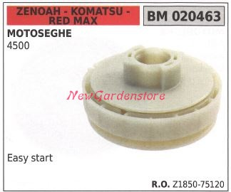 PULEGGIA AVVIAMENTO messa in moto MOTOSEGA ZENOAH KOMATSU RED MAX G 310 3100 TS