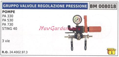 REGOLATORE PRESSIONE STING 3 VIE IDROMECCANICA BERTOLINI