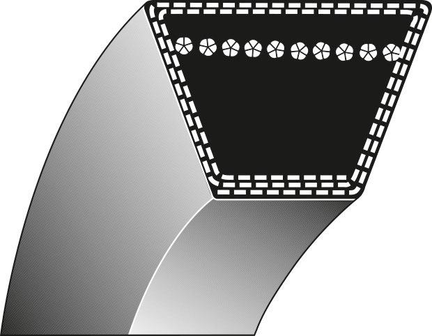 Cinghia piatto lame trattorino HUSQVARNA CP12542A 532160855 12,7 x 2426 8-917