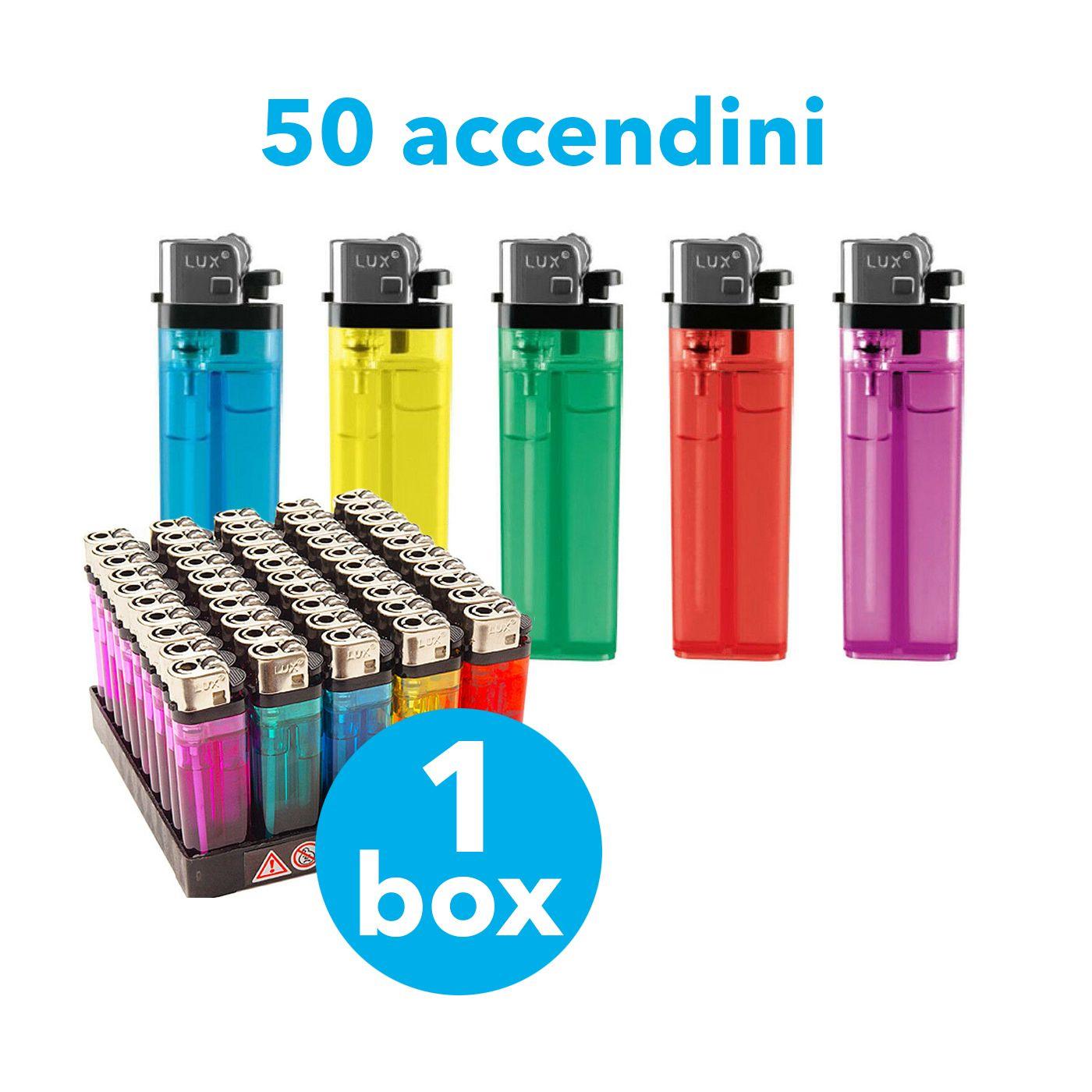 50 ACCENDINI /'CLEAR/' CON PIETRINA